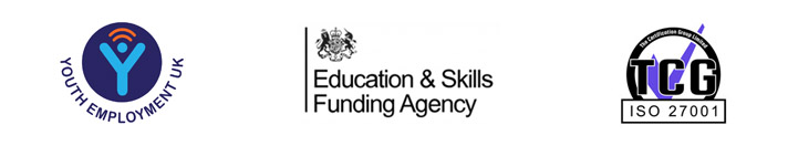 Youth Employment UK, Education & Skills Funding Agency and TCG logos